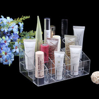 acrylic lip gloss display holder - Transparent Acrylic Plastic Booths Lipstick Lip Gloss Display Stand Make up Storage Cosmetic Organizer Jewelry Display Stand Pen Holder