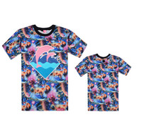 Men Cotton Round Top sale 2014 Summer New arrival pink dolphin t shirts Hip hop GALAXY,Cements,Camouflage,Leopard flower t shirt mix order 10pcs lot
