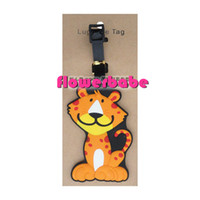 purse hardware - 2015 Rushed Sale Rubber Hardware for Bags Metal Clasps for Purses Tiger Luggage Accessories Tags Cartoon Essential Travel Tag