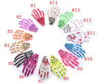 Wholesale Sale Whole Japanese Harajuku style skull paw blood luminous ghost Shougu hairpin brand hair clip printing accessories jewelry