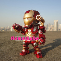 Multicolor PVC doll IRON MAN Hand to do Car doll model The movable joint cute dolls Voice control Lighting Edition