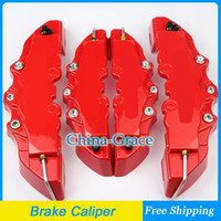 Wholesale Universal Car Auto Brembo Style Disc Brake Caliper Covers Front and Rear Brake Calipers Red Color
