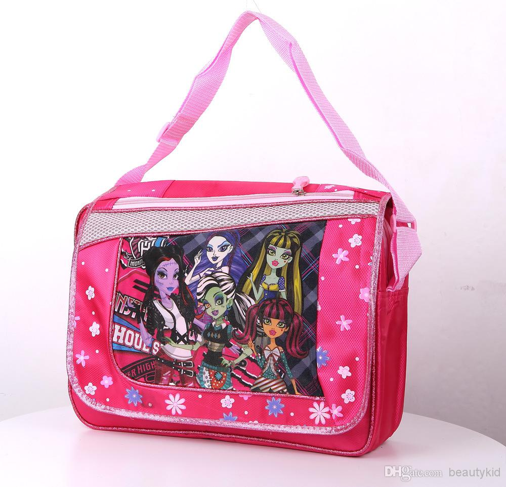 Kids School Bags Monster High Elves High School Girl Hangbags ...
