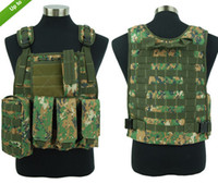 safety clothing - Tactical Molle Plate Carrier Adjustable FSBE Style Carrier for Airsoft Paintball Hunting Vest ACU