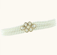 Wholesale Pearl Waistband High Quality New Fashion Layers Pearls Women Lady Waist Belt Waistbands Belt