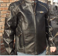 Wholesale 110th limited S XXL vm Men s th Leather motorcycle Jacket motorcycle apparel