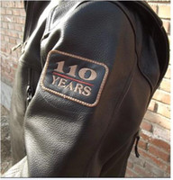 Wholesale Classic style Motorcycle jackets Men s th years limited genuine Leather Jacket VM motorcycle Apparel