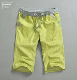 Wholesale New Fashion Men Summer Solid Beach Linen Shorts Casual Men s Designer Sport Hurley Surf Swim Shorts Top Man Brand Short