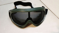 army protection net - Tactical Net Metal Mesh Eyes Protection Wind Goggle Glasses X400 for Paintball Airsoft Outdoor CS Sports army Green