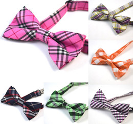 Wholesale 129 Style Kids Bowties Baby Children Boys Fashion Plaid Bow ties Fashion Bowtie With Wedding Party Necktie