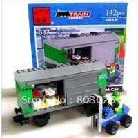 Wholesale Enlighten set DIY educational train series freight car blocks toy set