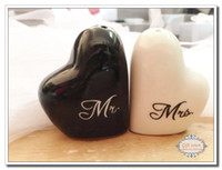 Wholesale Ems piece set Wedding favors and gifts Mr amp Mrs Heart salt and pepper shakers