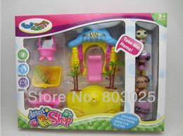 Wholesale LPS Littlest Pet Shop Flowers Garden With Different Pets Figures Kids Plastic Pretend Play Toy