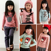 Wholesale Factory Sale Shop essential spring models Kids Korean girls long sleeved T shirt bottoming pattern shirt whole direct