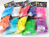 Unisex 5-7 Years Multicolor Top quality Rainbow Loom Refill Rubber Bands 600 Pcs & 24 Clips - Neon, Glow in the Dark