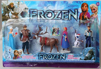 Wholesale Best Price Original Frozen Figure Play Set Princess Anna Elsa figure set movie Cartoon Anime princess doll toy box package