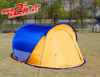 Wholesale 3 Man POP UP Tent Outdoor Camping Dome Tent Family Festival Tent cm cm T