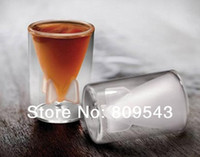Stainless Steel Glass Clear New Arrival Hot High Quanlity Home Supplies Creative Guided Missile Model Double Wall Rocket Bomb Shape Glass Cup (Transparent)