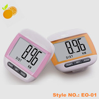 Wholesale Big LCD Counter Electronic Digital Pedometer multifunction Counter with customize Logo