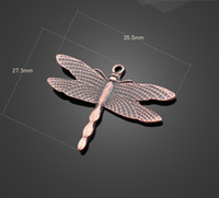 Wholesale 13360 vintga antique copper dragonfly charms Necklace earrings Pendants DIY alloy Charms Jewelry Findings amp Components