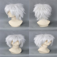 Mix Color Straight Synthetic hair Lowest Price New Style Cosplay Hair Short Heat Resistant Synthetic Hair Cartoon characters Cosplay Anime Wigs CB019