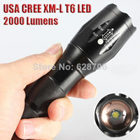 Wholesale UltraFire E17 CREE XM L T6 Lumens Zoomable Cree LED Flashlight Torch Light Lamp For xAAA or x18650 Bike Mount Holder