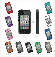 Wholesale 2014New Life Water Dirt Snow Proof protective cover case for apple iphone s in retail package
