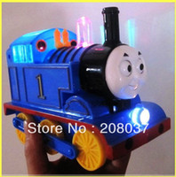 Wholesale popular children s toys Tomas train electric train baby choochoo toy easy comedy the mini train gift for kids