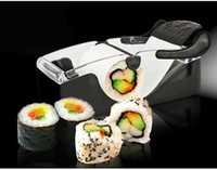 Sushi Tools Black Sushi Molds Easy Hand Sushi Maker Roller equipment, perfect roll, Roll-Sushi with color box kitchen accessories 96pcs lot Free Shipping