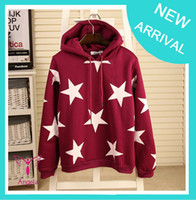 Cotton Pullover Regular Big star thick fleece cotton hoodies for women newest style with hoody winter