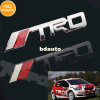 Stickers Guangdong China (Mainland) Yes Wholesale-Free Shipping TRD Chrome Racing Emblem Auto Car Trunk Badge 3D Logo Metal Sticker Decal for Toyota