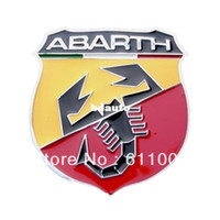 Stickers   Wholesale-3D Metal Fiat ABARTH Badge Emblem Auto Car Front bumper rear back tank door window Auto Truck Van Motorcycle Sticker Decal