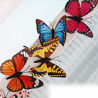 Wholesale 3D Simulation Butterfly Fridge Magnets Refrigerator Magnet Sticker Party Home Decor