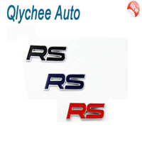 Stickers Head,Front Windshield,Roof,Window,Rearvi Qlychee Wholesale-Car Black Red Blue Race Sports RS Emblem Badge Car truck auto motor sticker decals symbol Free Shipping