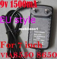 Wholesale EU Plug A V mAh Pin Portable quot inch VIA8550 VIA Tablet PC Power Adapter AC Wall Charger