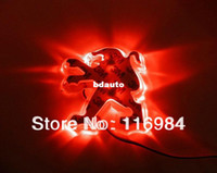 Wholesale Red Peugeot Car Badge Light Auto Rear Emblem Led Lamp Backup Light mm X mm