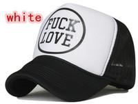 Wide Brim Hat Black Printed Free Shipping FUCK LOVE letters truck cap Mesh hat Korean Fashionable hats Snapbacks caps, hat circumference 55--60cm 2 color