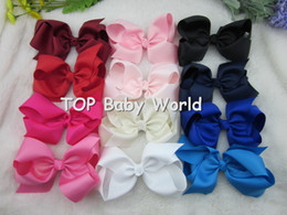 32pcs/lot,6 inch big ribbon bows,Girls' hair accessories hair bow withclip, hot selling bows for girl. free shipping