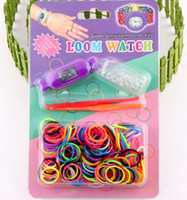 Wholesale 1405c DIY braided rubber band bracelet watch rainbow watch watch rubber loom with a header