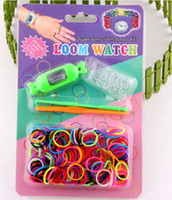 Wholesale 1405c z DIY braided rubber band bracelet watch rainbow watch watch rubber loom with a header