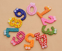Wholesale Cute Colorful Fridge Magnet Children Early Learning Education Toys Wooden Refrigerator Magnet Toddler Children Toys Learning Toys