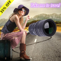 Cheap Free Shipping Spyglass Dual Focus Monocular 16x52 Zoom Green Film Hunting Telescope 66M 8000M Optical Pocket Compact Monocular Telescopio