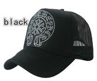 Wholesale 20pcs Horseshoe Rhinestone truck cap Tennis hats Mesh hat Snapbacks caps hat circumference cm color