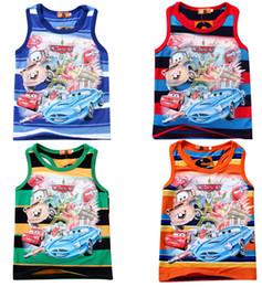 Wholesale 2014 New Arrival Summer Fashion Tank Boy Clothing Cotton Cartoon Print Kid Sleeveless Vest Child Tops Clothes M259