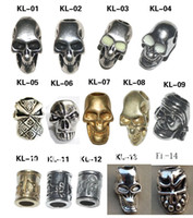 Wholesale Skull Beads Charm Metal For Paracord Bracelet Knife Lanyards Jewelry Making Accessories