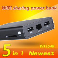 Wireless Soho VPN WT1540 hot sale wireless repeater World Smallest Portable Mini Wifi Router USB Flash with 8800mAh samsung battery USB disk iphonepower bank