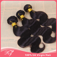 Wholesale new star hair peruvian body wave AAAAA g length natural color super soft hair remy hair weave