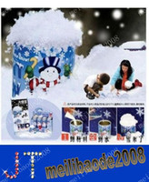 fake snow - Magic Prop DIY Instant Artificial Snow Powder Simulation Fake Snow for Party Christmas Decoration MYY1281