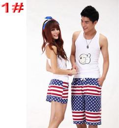 Wholesale Men Women Beach Swimwear Flower Plaid Stripe Star Lovers Couple Swimming Pants Sport Wear Beach Shorts styles