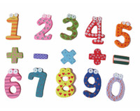 Number magnets for - Wooden Figure Numbers Punctuation Marks Baby Children Educational Tool Colorful Fridge Stick Magnet for Baby Child Early Education